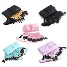 Soft Multicolor Makeup Brushes Set 32pcs Professional Cosmetic Powder Eyeshadow Lip Brush Tool