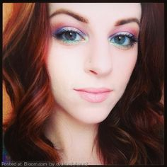 Subtle rainbow eye makeup. By CourtneyLynn