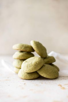 These vegan matcha cookies are flavored with the antioxidant-rich green tea. The green color would make these the perfect dairy-free vegan St. Patrick's Day cookies!