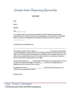 sle letter for sponsorship