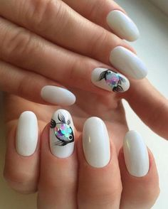There are fishs on my nails.....how cute? #cute #nails #fish #manicure #inspiration