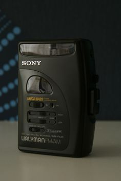 Vintage black Sony Walkman portable cassette tape player with radio