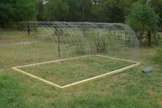 Hoop Coop - our next project to build a chicken tractor! Going to let our peeps tend a garden plot. Wonderful workers, great fertilizer, pest control, they turn the soil. Love our chickies : )
