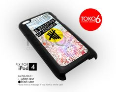 AJ 3906 5SOS Colorfull Logo Collage - iPod 4 Case | toko6 - Accessories on ArtFire