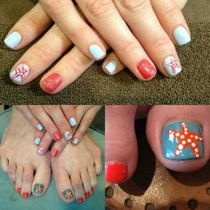Kariann created this summer inspired nail polished theme for her client!