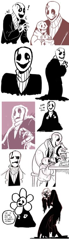 """Gaster Dump by Itachei.deviantart.com on @DeviantArt // that last one says """"its a kill or be killed world"""""""