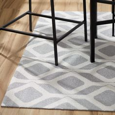 Mercury Row Brisbane Gray Area Rug & Reviews | Wayfair