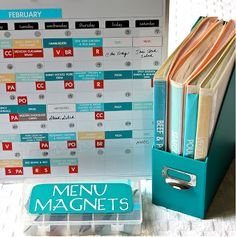 MUST MAKE THIS. It may save our marriage! lol The Homes I Have Made: Magnetic Menu Board - Part 1