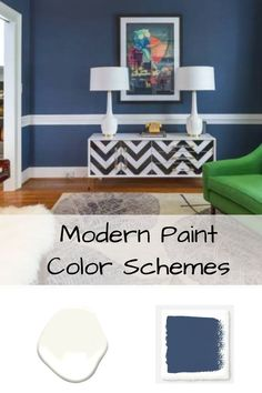 Modern Paint Color Schemes - Living room color combination ideas and inspiration