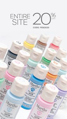 Only on Plaidonline.com, get 20% off site-wide, including on Martha Stewart craft paints using code FEB2020 now through to February 28, 2020. Conditions apply. See site for details.