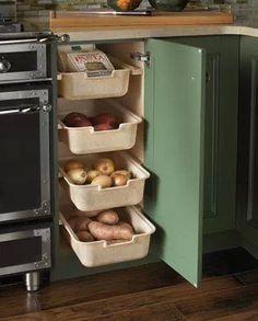 Built In veggie bins!