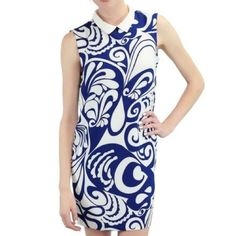 NEW  Blue & White Sleeveless Dress Blue & White Sleeveless Dress.  Absolutely beautiful summer dress. It's perfect for dress up or casual wear.  Could be worn as a dress or top with nice pair of leggings.  Very soft.  Material: 88% Polyester 12% Spandex.  Trades. Relished Dresses Mini