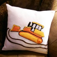 You can make this Rowdy Roller pillow.  Simple construction. Easy to read instructions.  Felt applique.  .
