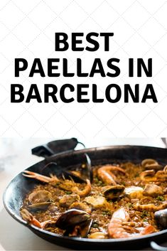 Want to find the best paella restaurants in Barcelona? It's not an easy task, but we made it a lot easier for you with this list of all the best restaurants for paella in Barcelona! Barcelona Update, Barcelona Food, Paella, Best Tapas, Tapas Bar, Good Foods To Eat, Great Restaurants, Cool Bars, Travel Ideas