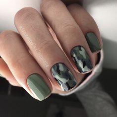 Camo Nail Art, Camouflage Nails, Camo Nails, Swag Nails, Camo Nail Designs, Green Nail Designs, Burberry Nails, Olive Nails, Country Nails
