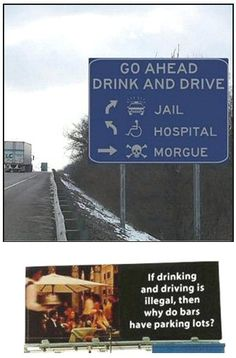 funny signs | Funny drink drive sign