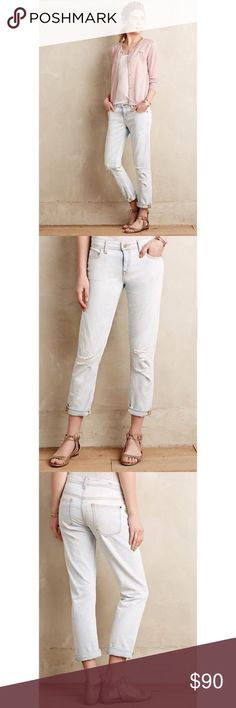 Selling this Anthropologie Pilcro Distressed Jeans on Poshmark! My username is: brookewaters3. #shopmycloset #poshmark #fashion #shopping #style #forsale #Anthropologie #Denim