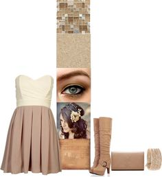 """""""Tan!"""" by starcc3 ❤ liked on Polyvore"""