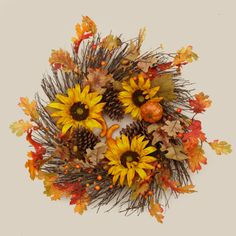 Your Heart's Delight by Audrey's - TWIG WREATH-HARVEST MIX
