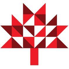 Geometric Canada Day Bunting - free printable