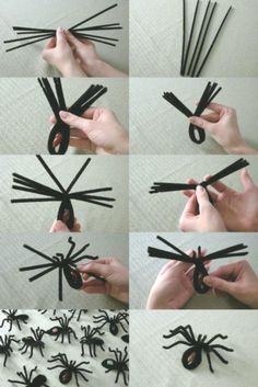 DIY Spider Halloween Decoration Ideas that are creepy as hell - Hike n Dip - - Decorate your home for Halloween with dollar store spiders and cobwebs. Get best DIY Spider Halloween decoration ideas which are easy to do & surely scary. Halloween Spider Decorations, Halloween Party Decor, Halloween 2019, Women Halloween, Costume Halloween, Halloween Makeup, Halloween Couples, Spider Crafts, Halloween Kid Crafts