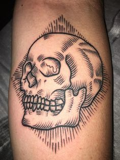 My new skull by Amber At Occult Tattoo Worthing UK