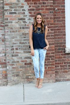 Navy Lace - Lex What Wear #FashionBlogger #StyleBlog #DailyFashionTrends #StyleIdeas #OutfitIdeas #OOTD #OOTDShare #OutfitInspiration #SpringStyle #SpringFashion #LOFTstyle #NoNonsenseLegwear #Legwear