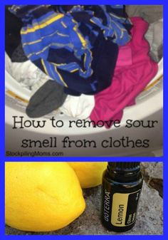 How to remove sour smell from wet clothes