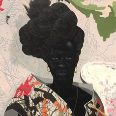 kerry james marshallI can see where Kehinde Wiley might've been influenced by this (wkb)