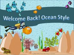 """$4 Pre-K- grade 5   Included in this non-editable package are:   -a welcome back sign for the classroom door  -classroom rules   -medical alert and allergies chart  --discs with the letters spelling """"WELCOME"""" to be posted over a door or on a wall   - 12 name tags each with a different ocean creature on it  -ocean themed awards"""