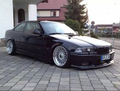 Black BMW e36 coupe on BBS Super RS wheels