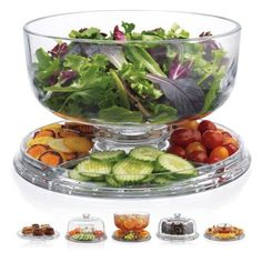 This cake dome by Home Essentials is the perfect platter for almost any snack display. It reverses to a four compartment tray with an attached bowl. When combining the dome lid and plate in different Cake Plate With Dome, Cake Stand With Dome, Cake Dome, Appetizer Recipes, Appetizers, Salad Recipes, Charcuterie Recipes, Charcuterie Board, Vintage Cake Stands