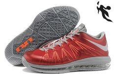Sale Nike Air Max Lebron 10 Low Red Gray Orange