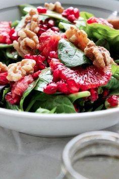 Salade van granaatappel en bloedsinaasappel.