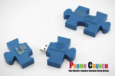 Puzzle Piece custom USB Flash Drives for marketing and promotion #marketing #advertising #USB