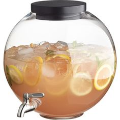 CB2 Beverage Dispenser (4.350 RUB) ❤ liked on Polyvore featuring home, kitchen & dining, serveware and cb2