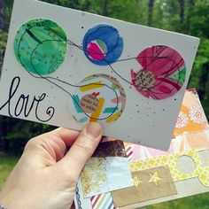 Two postcards received in @ihanna's DIY Post Card Swap spring 2016 #collage #mixedmedia
