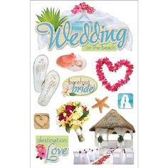 Paper House Productions STDM0136 3D Sticker 45 x 7 Sheet Beach Wedding *** Check this awesome product by going to the link at the image.