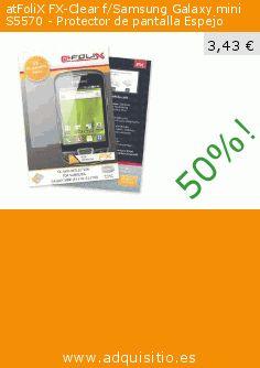 atFoliX FX-Clear f/Samsung Galaxy mini S5570 - Protector de pantalla Espejo (Accesorio). Baja 50%! Precio actual 3,43 €, el precio anterior fue de 6,83 €. http://www.adquisitio.es/atfolix/fx-clear-fsamsung-galaxy-1