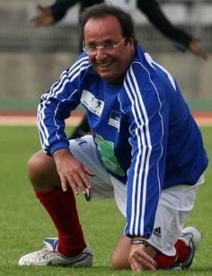 François Hollande en footballeur