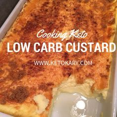 LOW CARB CUSTARD I love this stuff for breakfast! Low carb and keto, and easy to make! http://www.ketokary.com/low-carb-custard-2/?utm_content=buffer3f181&utm_medium=social&utm_source=pinterest.com&utm_campaign=buffer