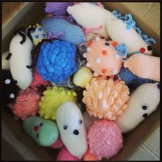 Huge box of knitted #microbes arrived at Glasgow City of Science HQ this morning - thank you so much! These little bugs are brill!   http://www.glasgowcityofscience.com/get-involved/knitting-microbes  #KnitMeAFriend
