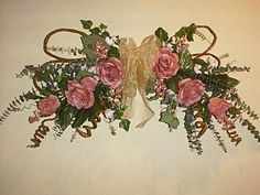 Swag of mauve roses mothers day rose swag mauve rose wreath for swag of mauve roses mothers day rose swag mauve rose wreath for mom summer swag of roses dewdipped roses on grapevine swag gift 4 mom gardens mightylinksfo Choice Image
