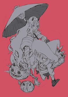 蜷川ヤエコ 鵺ゼノン5月号より連載中 (@ninayae5)   Mononoke Anime, Asian Artwork, Manhwa, Ghibli Movies, Anime People, Monster Party, Character Design Inspiration, Totoro, Art Inspo