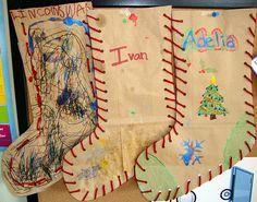 Brown paper bag stockings