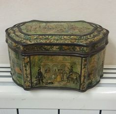 Vintage Huntley and palmers biscuit tin. Paris exhibition 1878 | eBay