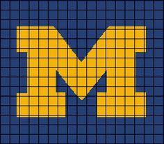 University of Michigan Wolverines Crochet by AngelicCrochetDesign