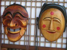 Korean Mask | File:Korean mask-Hahoe mask-01.jpg - Wikimedia Commons