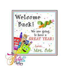 Personalized Back to School tag- Available as Stickers- Card paper Tags or Digital File Thank You Bags, Welcome Back To School, Birthday Thank You, Personalized Tags, Paper Tags, Name Cards, Stickers, Digital, Reading