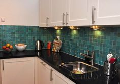 Tile: Zellige Turquoise 5x5cm | Designtegels.nl